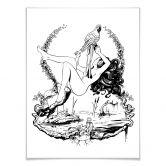 Poster mit Bilderrahmen - Drawstore - Parrot'n Girl