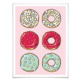 Poster mit Bilderrahmen Donuts 02