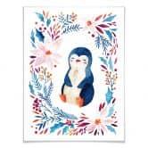 Poster mit Bilderrahmen Sweet Pinguin