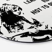 Alu-Dibond Banksy - If you get tired - Rund