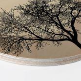 Holzbild Kubistika - Wintertraum - Rund