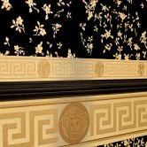 Versace wallpaper Bordüre Greek metallic
