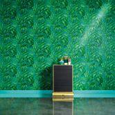 Versace wallpaper Mustertapete Tapete Giungla Blau, Grün