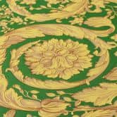 Versace wallpaper Vliestapete Barocco Birds Tapete grün, gelb, beige