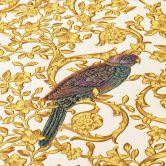 Versace wallpaper Vliestapete Barocco Birds Tapete metallic, weiß, gelb