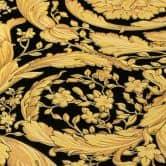 Versace wallpaper Vliestapete Barocco Birds Tapete  metallic, schwarz