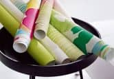 Esprit Home Wallpaper Buenos Aires Signal white, Beige, Turquoise blue, Light green, Zink yellow, Tele magenta