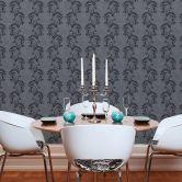 Vliestapete Premium Wall Tapete neo barock glamourös klassisch grau, schwarz