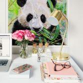 Wallprint Toetzke - Pandabär - quadratisch