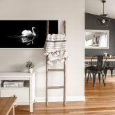 Wallprint + Zierleisten Night Swan - Panorama