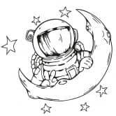 Adesivo murale - Astronauta