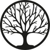 Muursticker Tree of Life