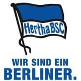 Wandtattoo Hertha Logo mit Schriftzug - Hochformat