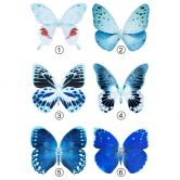 Wandtattoo Hugonnard - Schmetterlinge in blau