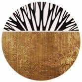 Wandtattoo Kubistika - Baum des Lebens gold - Rund