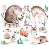 Wandtattoo Kvilis - Tierfreunde im Wald Set (24-teilig)
