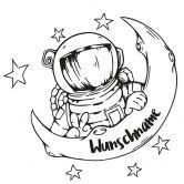 Wandtattoo + Name Astronaut