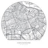 Wall sticker round - Amsterdam