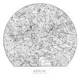 Muursticker rond - Berlijn