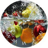 Muursticker met Klok - Verfrissend Fruit