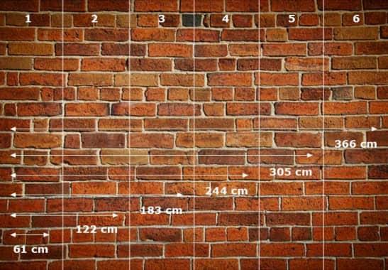 Selbstklebende Tapete M?nchen : Fototapete Ziegelsteinmauer – gro?fl?chige Wanddeko f?r Zuhause