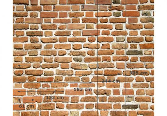 Selbstklebende Tapete Ziegel : Fototapete Mauer 02 – Alternative Optik f?r Ihre Wand wall-art.de