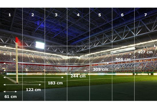 Selbstklebende Tapete D?sseldorf : Fototapete Fortuna D?sseldorf Stadion Eckfahne von K&L Wall Art