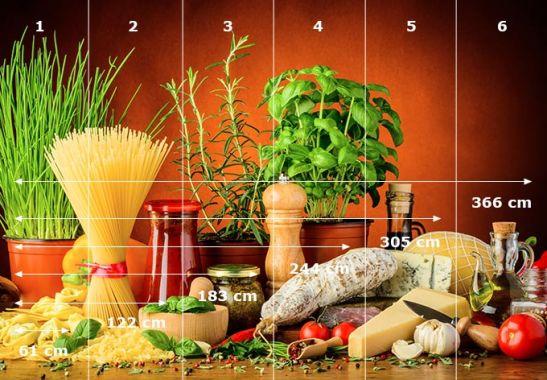 Fototapete italienisch kochen wall for Kochen italienisch