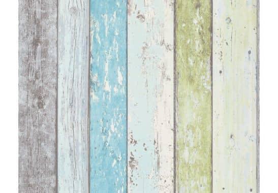 livingwalls holzoptik tapete surfing sailing blau gr n wei wall. Black Bedroom Furniture Sets. Home Design Ideas