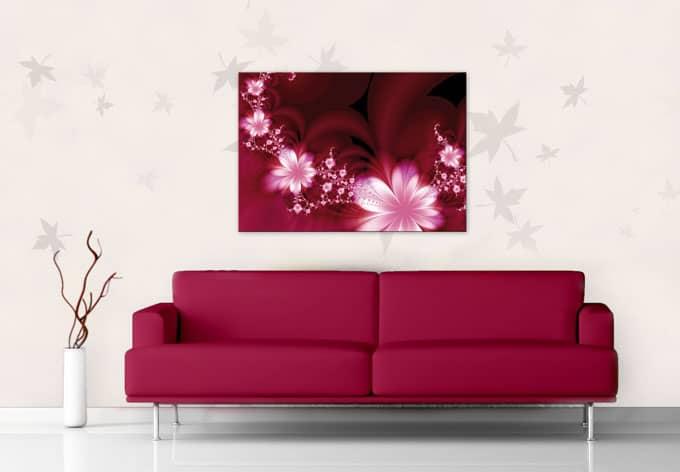 glasbild effects wandbild im zarten brombeer ton wall. Black Bedroom Furniture Sets. Home Design Ideas