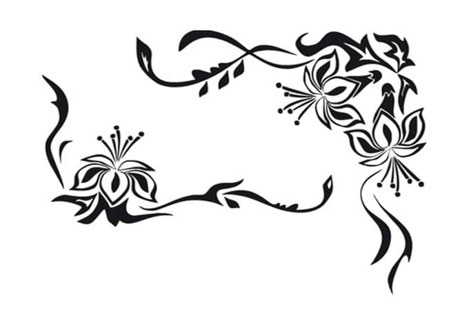 Wandtattoo bl tenornament ornament zur wandgestaltung for Farbmuster wandgestaltung