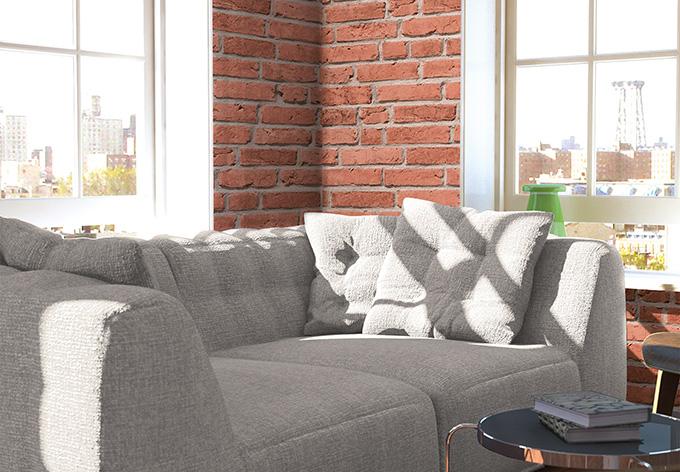 Beige Tapete Kombinieren : Cr?ation steinoptik Tapete Cocktail 2 Beige, Rot wall-art.de