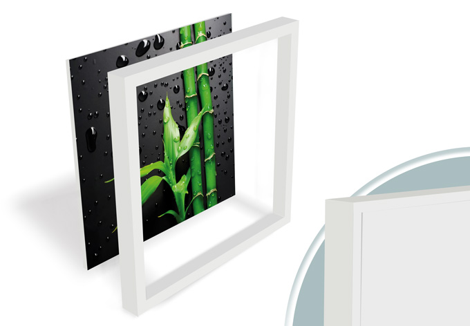 tableau forex bambou sur fond wall. Black Bedroom Furniture Sets. Home Design Ideas