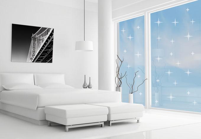 Effet verre d poli nuit toil e wall for Fenetre 90x60