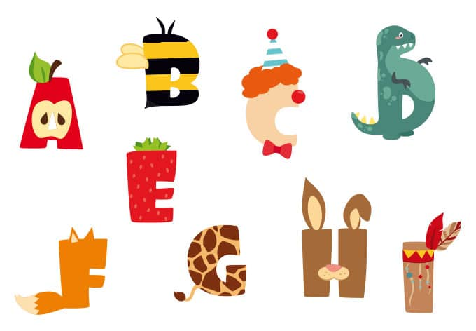 kids alphabet wall sticker wall art com uppercase patterned alphabet nursery wall stickers