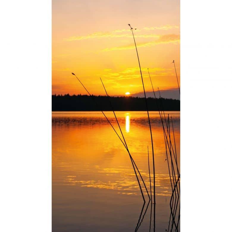 Fotobehang Zonsondergang Bij Het Water