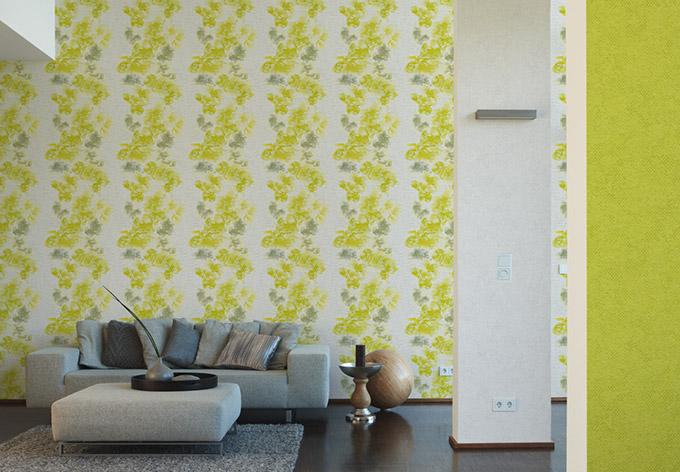 metropolis by michalsky living tapete honolulu gr n wei. Black Bedroom Furniture Sets. Home Design Ideas