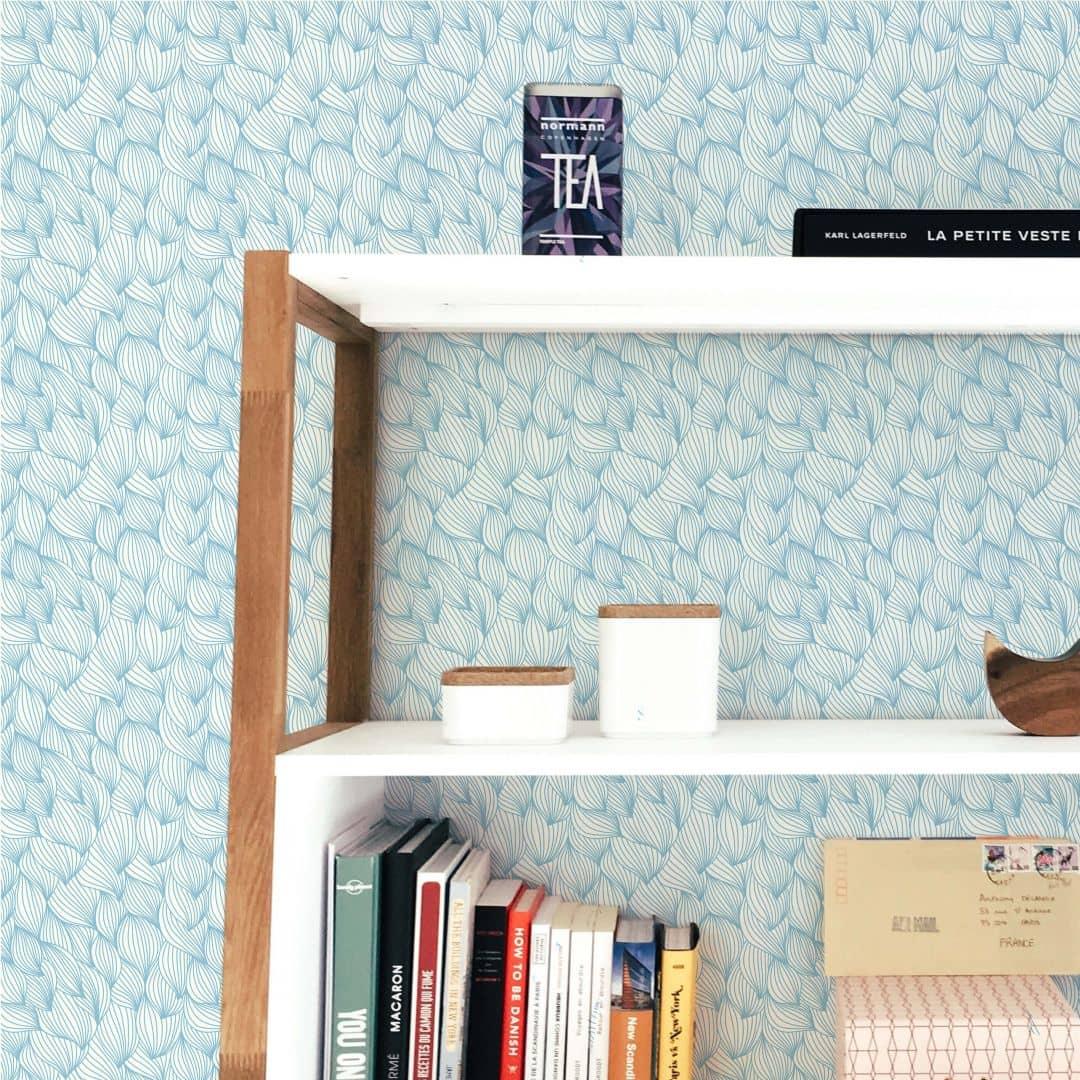 mustertapete grafische wellen in vielen farben. Black Bedroom Furniture Sets. Home Design Ideas