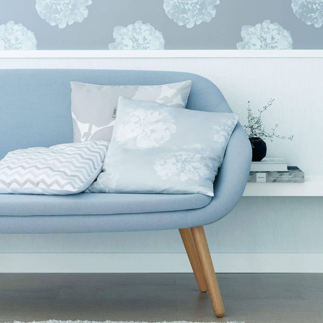 sch ner wohnen vliestapete blau 324541 wall. Black Bedroom Furniture Sets. Home Design Ideas