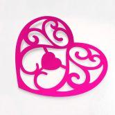 Wandtattoo Liebe ist das einzige Geschenk... + 3D Deko-Herzen (4-teilig) mit Tesa-Tack