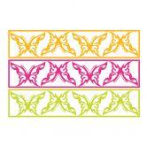 Wandtattoo Gib jedem Tag die Chance... 2 + 3D Deko-Schmetterlinge mit Tesa-Tack (4-teilig)