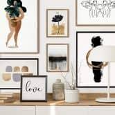 Poster Kubistika - Schwarze Blume
