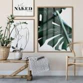 Poster Lineart – Silhouette di donna