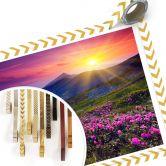 Poster - Coucher de soleil dans les montagnes
