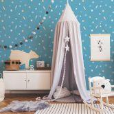 Esprit Kids Papiertapete Space beige,blau,metallic