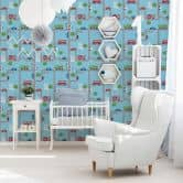 A.S. Création paper wallpaper Boys & Girls 5 blue, multicolored