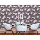 Livingwalls papier peint intissé Metropolitan Stories papier peint Anke et Daan Amsterdam gris;rose;noir