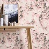 A.S. Création Vliestapete Neue Bude 2.0 Romantic Flowery Blumentapete mit Rosen creme, rosa