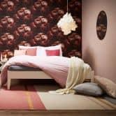Livingwalls Vliestapete New Walls Romantic Dream Blumentapete mit Rosen rot, schwarz