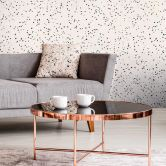 Livingwalls Vliestapete New Walls Tapete 50's Glam Konfetti weiß, metallic, schwarz
